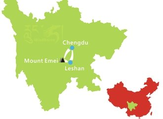 3 Days Mount Emei Tour Route