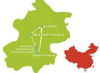 Beijing Walking Tour Map