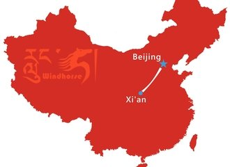 Beijing Xi'an Train Tour Map