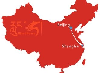 Beijing Shanghai Tour Map