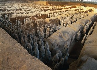 Xian Terracotta army and horses