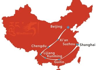 Beijing Guilin Tour Route