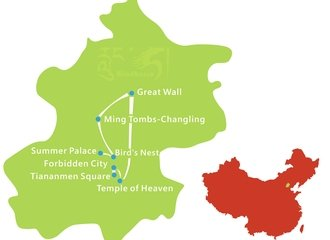 Beijing In Depth Tour Route