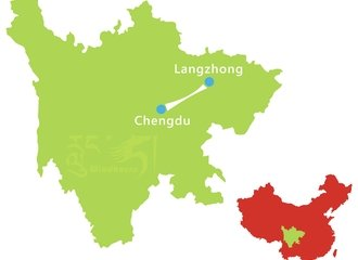 Chengdu Lanzhong Ancient City Tour Route