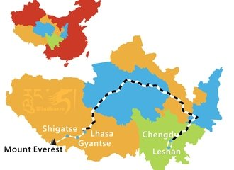 Chengdu Lhasa Train Tour Route