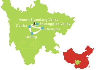 Chengdu Mount Siguniang Overland Tour Route