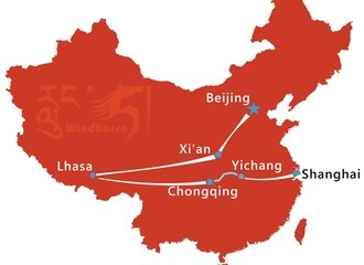 China Tibet Tour with Yangtze Cruise Route