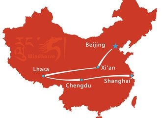 Explore China Tour Route
