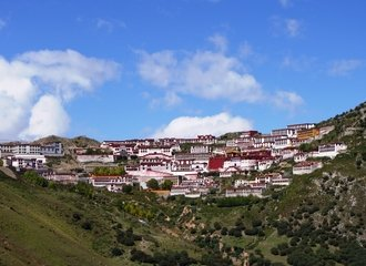 Panoramic View of Ganden Monastery