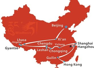 Grand China Tour Route