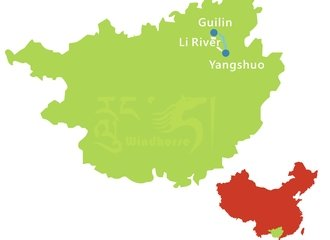 Guilin and Li River Tour Route