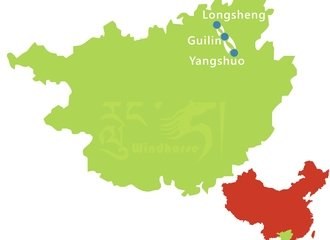 Guilin Li River and Longshen Tour Route