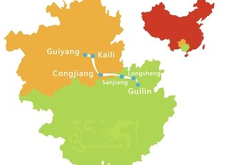 Guilin Minority Tour Route