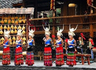 Guizhou Minority People Dancing