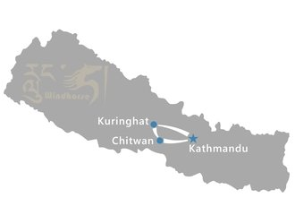 Nepal Highlight Tour Route