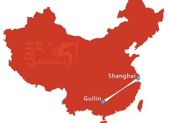 Shanghai Guilin Tour Route