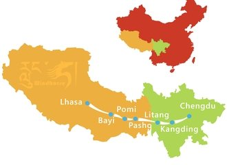 Sichuan Tibet Highway Tour Route
