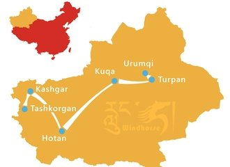 Silk Road Adventure Tour Route