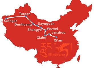 Silk Road Safari Tour Route