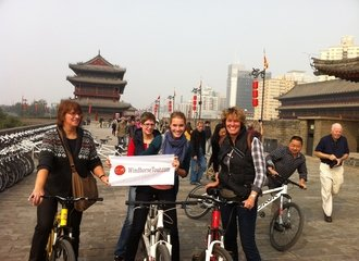Xi'an Ancient Wall biking - WindhorseTour clients.