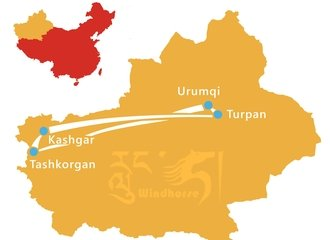 Xinjiang Highlights Tour Route