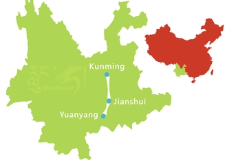 Yuanyang Rice Terraces Tour Route