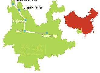 Yunnan Adventure Tour Route