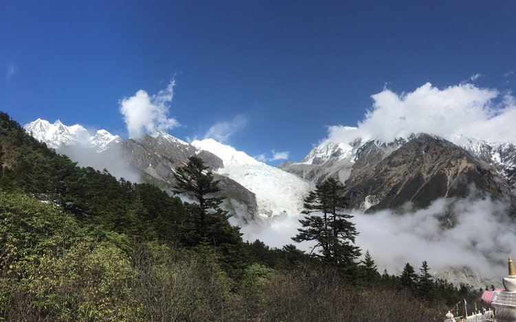 The Big Icefall at Hailuogou Glacier Camp 4