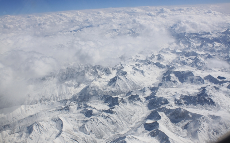 Flight to Lhasa view