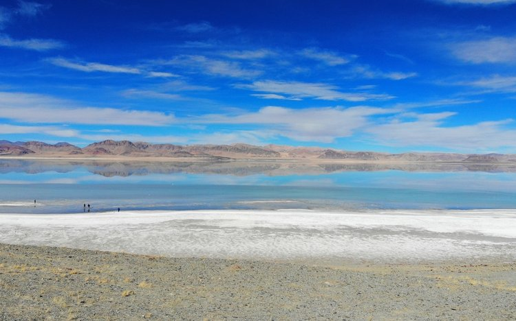 Tsaka Salt lake
