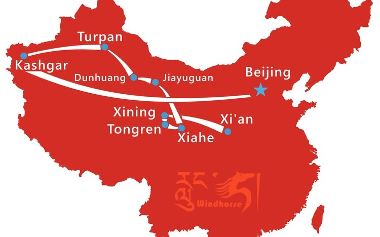 Beijing Silk Road Tour Route