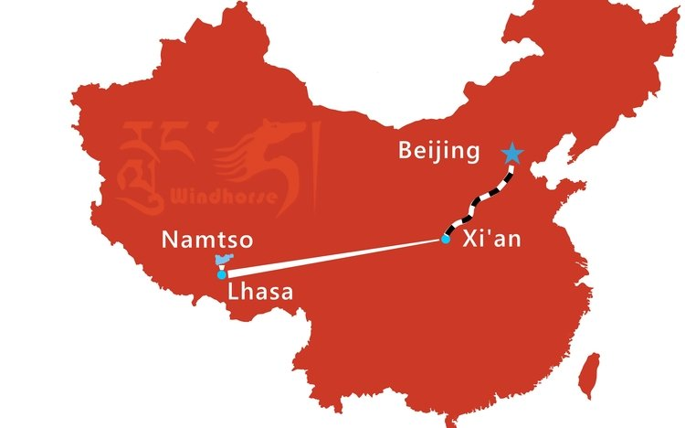 Beijing Xi'an Lhasa Train Tour Route