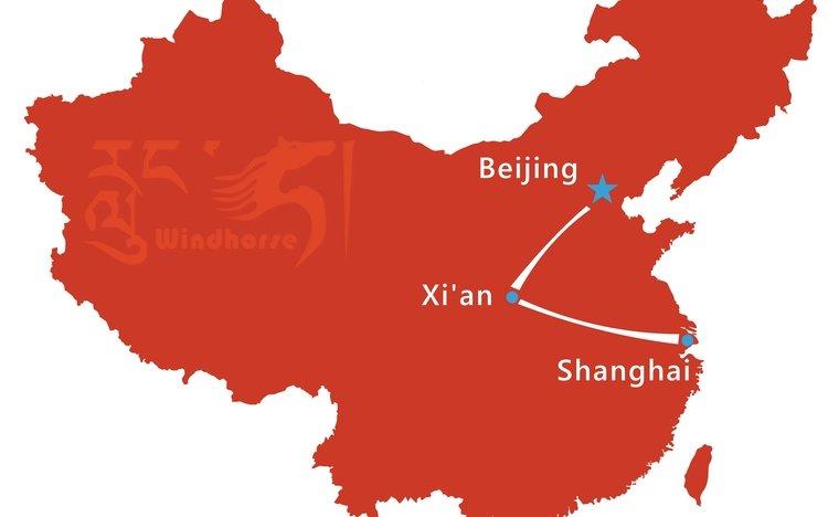 Beijing Xi'an Shanghai Tour Package - 9 Day China Tour ... on xinjiang china map, guangdong china map, dalian china map, manchuria map, seoul map, yantai china map, shanghai on map, jakarta map, xingang china map, japan map, china city map, delhi india map, east china map, wuxi china map, east asia map, nanning china map, nanchang china map, nanjing china map, calcutta map, jiangsu province china map,