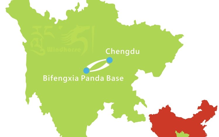 Bifengxia Panda Volunteering Tour Route