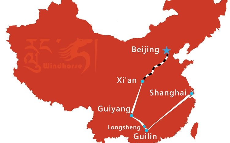 China Minority Tour Route
