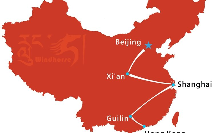 China Tour from Hongkong Tour Route