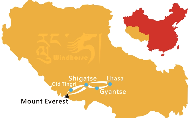 Mount Everest Trekking Tour Route