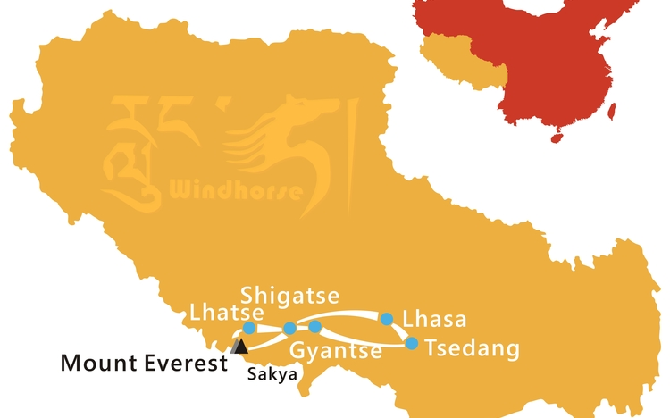 Mount Everest with Tsedang Tour Route