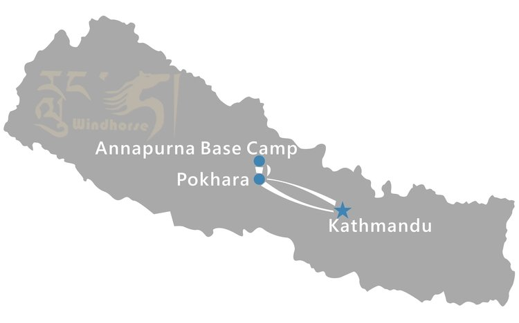 Nepal Annapurna Base Camp Trekking Tour Route