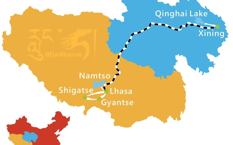 Qinghai Tibet Train Tour Route