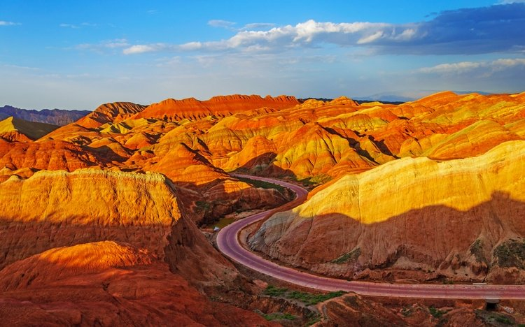 Rainbow Mountain Sunset on a Zhangye Silk Road Tour