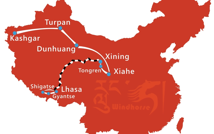 Western China Tour Route