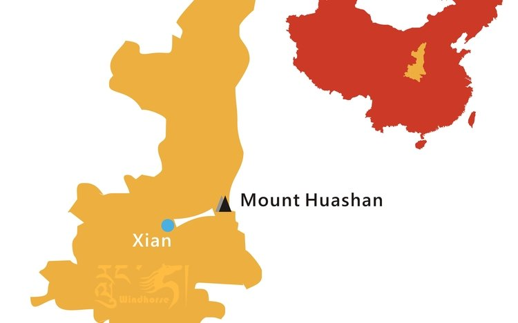 Xi'an to Huashan Tour Route