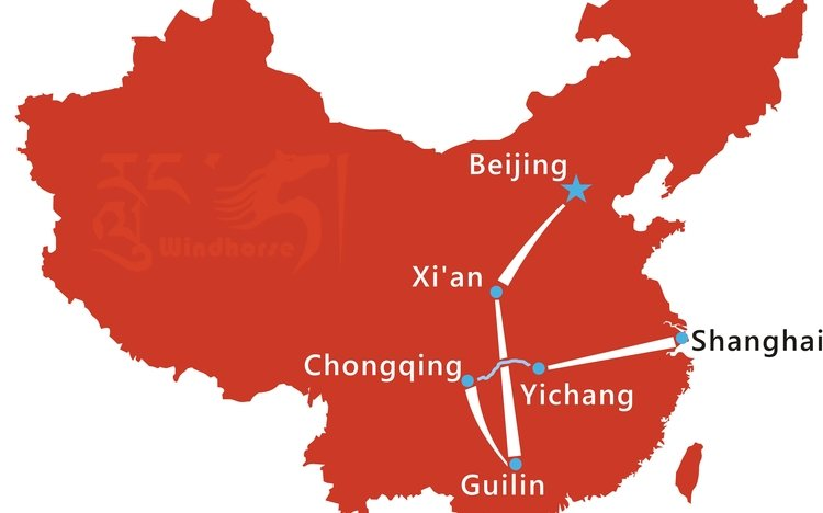 Yangtze River Cruise Tour Route
