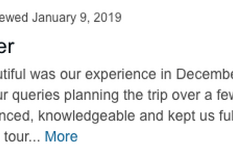 Client's Tibet winter trip review on TripAdvisor