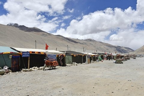 local tent guest houses at Everest Base Camp