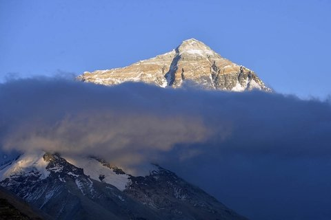 sunrise over mount Everest in Tibet