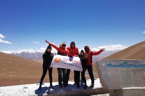 windhorsetour clients at Pangla pass drive to Everest Base Camp