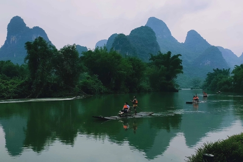 Bamboo Rafting Yulong River in Yangshuo