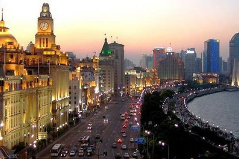 Beautiful Shanghai Bund view